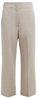 Raey Elasticated-back Wool-blend Trousers - Grey