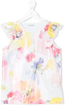 Simonetta floral print tank top - kids - Silk/Cotton - 8 yrs