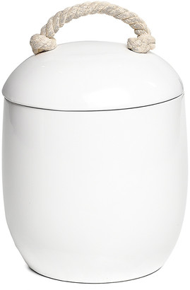 Torre & Tagus Cape White Ceramic Canister