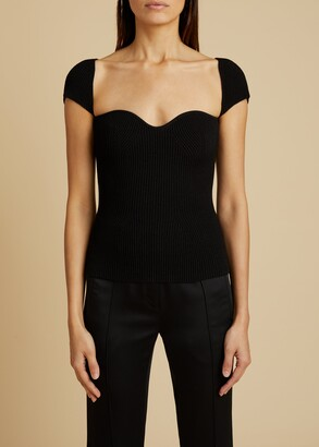 KHAITE The Ista Top in Black