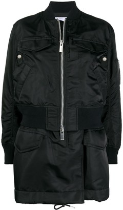 Sacai Long Zipped Bomber Jacket
