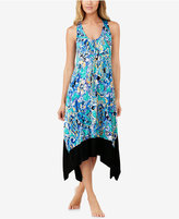 Ellen Tracy Printed Racerback Midi Nightgown