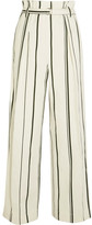 3.1 Phillip Lim Striped Cotton And Linen-blend Wide-leg Pants - Cream
