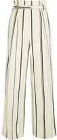 3.1 Phillip Lim Striped Cotton And Linen-blend Wide-leg Pants - US4