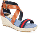Tommy Hilfiger Little Girls' Anastasia Stripe Wedge Sandals