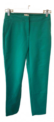 Reiss Green Cotton Trousers for Women