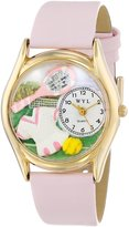 Whimsical Watches Kids' C0810015 Classic Tennis Female Pink Leather And tone Watch