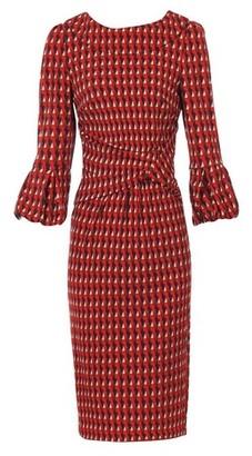 Dorothy Perkins Womens *Jolie Moi Red Geometric Print Puff Sleeve Dress, Red