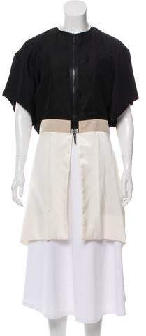 Rue Du Mail Short Sleeve Colorblock Jacket