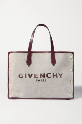 Givenchy Cabas Medium Leather-trimmed Printed Canvas Tote - Merlot