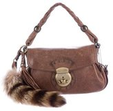 Barbara Bui Fur Accented Shoulder Bag