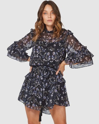 Three of Something Falls Floral Valley Dress