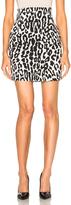Alexandre Vauthier Leopard Crepe Skirt