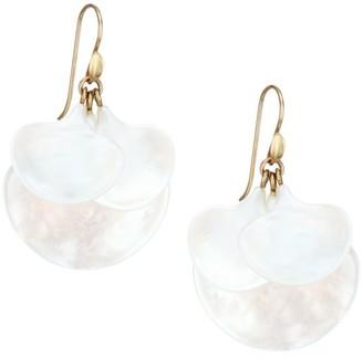 Annette Ferdinandsen 14K Yellow Gold & Mother-Of-Pearl Gingko Cluster Earrings