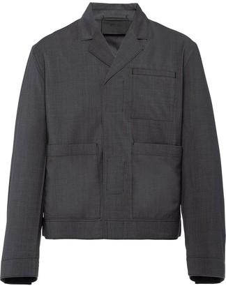 Prada Touch-Strap Wool Jacket
