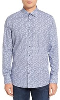 Sand Men's Trim Fit Geo Print Sport Shirt