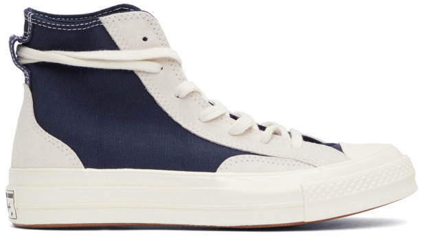 Converse Navy and Grey Final Club Chuck 70 High Sneakers