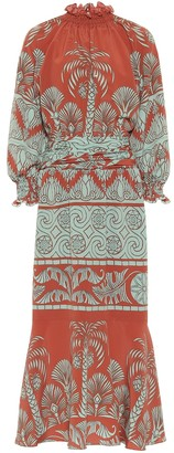 Johanna Ortiz Ataraxia printed crepe midi dress