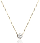 Ef Collection Diamond Disc Choker Necklace
