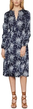 BCBGMAXAZRIA Floral-Print Satin Wrap Dress