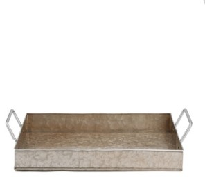 Mind Reader Cooper Plated Galvanized Serving Tray
