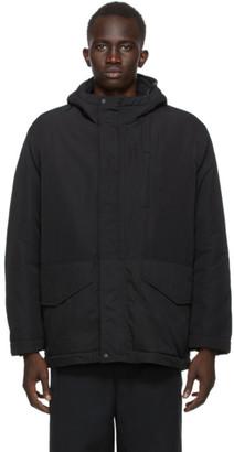 Comme des Garçons Homme Reversible Black Nylon Rip Cloth Tussah Jacket