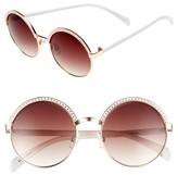 BP Women's Round Sunglasses - White/ Gold