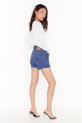 Nasty Gal Womens Denim Vintage Shorts - Blue
