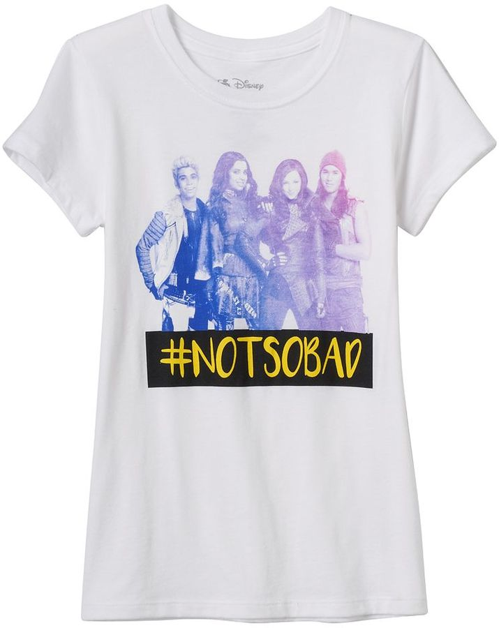 "Disney Disney's Descendants Girls 7-16 Hashtag ""Not So Bad"" Graphic Tee"
