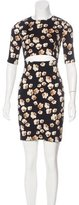 Suno Printed Cutout-Accented Dress