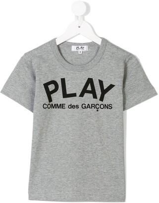 Comme Des Garçons Play Kids printed logo T-shirt