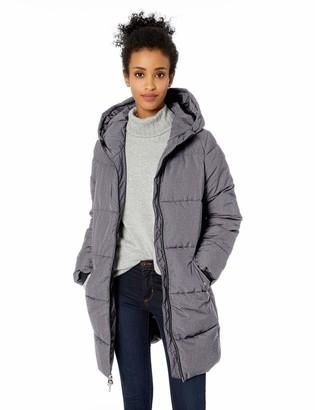 Daily Ritual Women's Long Water-Resistant Primaloft Puffer Jacket heather grey XX-Large