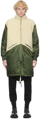 Givenchy Khaki Shearling Military Parka