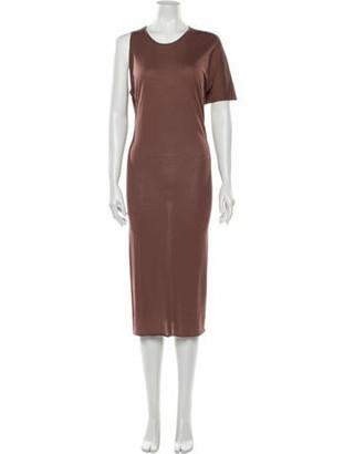 Rick Owens Lilies Scoop Neck Midi Length Dress w/ Tags Brown