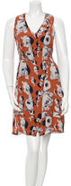 Rachel Comey Printed Silk Sleeveless Dress