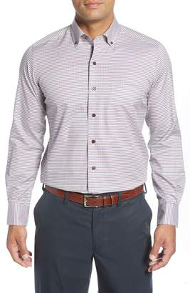 David Donahue Regular Fit Check Button-Down Shirt