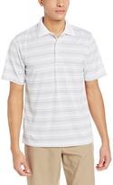 PGA TOUR Men's Golf Short-Sleeve Fine-Line Striped Polo Shirt