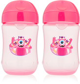 Dr Browns Pink Monster 9-Oz. Soft-Spout Stage 2 Sippy Cup - Set of Two