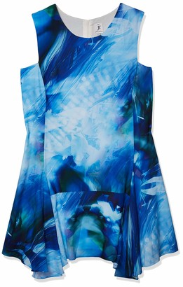 Julia Jordan Women's Plus-Size Abstract Floral Dress
