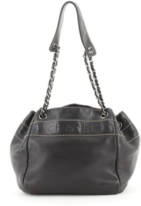 Chanel Lax Accordion Tote Leather Medium