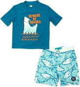 Osh Kosh Oshkosh Shark Rash Guard Set - Preschool