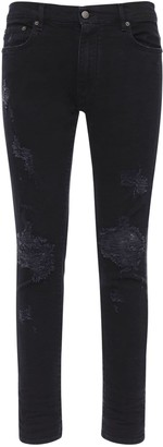 Lobbes Distressed Slim Cotton Denim Jeans