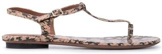 L'Autre Chose Snake Print Sandals