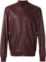 Ermenegildo Zegna leather bomber jacket - men - Lamb Skin/Polyamide/Polyester - S