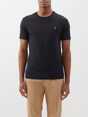 Polo Ralph Lauren Custom Slim-fit Logo-embroidered Cotton T-shirt - Black