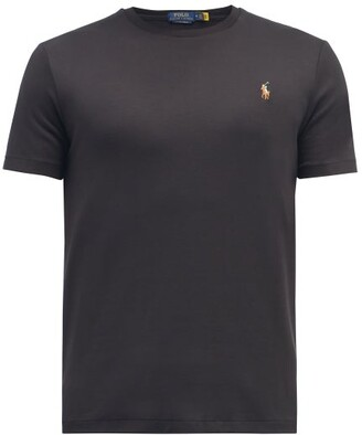 Polo Ralph Lauren Custom Slim-fit Logo-embroidered Cotton T-shirt - Mens - Black