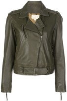 Nicole Miller off-centre zipped jacket