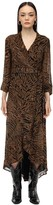 Ganni Printed Georgette Wrap Dress