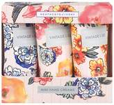 Heathcote & Ivory Vintage Pattern & Petals Mini Hand Creams, 3 x 30ml