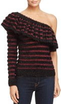 WAYF One-Shoulder Stripe Sweater - 100% Exclusive